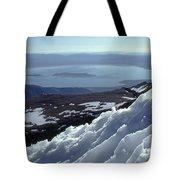 Mo-186-mono Lake From Mt. Dana In Winter  Tote Bag
