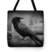Monochrome Crow Tote Bag