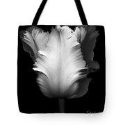 Monochrome Parrot Tulip Tote Bag