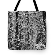 Monochrome Winter Wilderness Tote Bag
