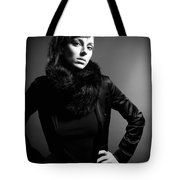 Monochrome Woman Tote Bag