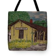 Monon Clear Creek Indiana Train Depot Tote Bag