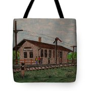 Monon Ellettsville Indiana Train Depot Tote Bag