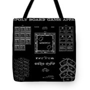 Monopoly Board Game Black Patent Art  1935 Tote Bag