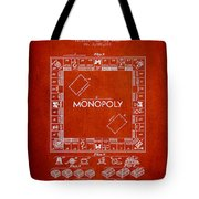 Monopoly Patent From 1935 - Red Tote Bag