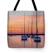Monroe Harbor Sunrise Tote Bag
