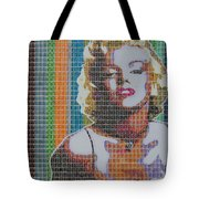 Monroe In Stamps Tote Bag