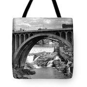 Monroe St Bridge Of Spokane Tote Bag