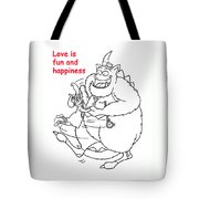 Monster Valentine Tote Bag