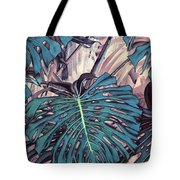 Monstera Blues Tote Bag