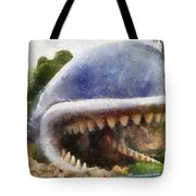 Monstro The Whale At Disneyland All Teeth Photo Art Tote Bag