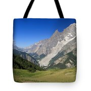 mont Blanc from Ferret valley Tote Bag
