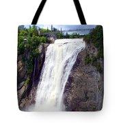 Mont Morency Falls Tote Bag