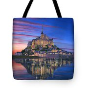 Mont Saint-michel Soir Tote Bag by Richard Harpum