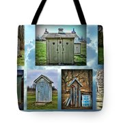 Montage Of Outhouses Tote Bag