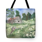 Montana Cabin Tote Bag