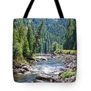 Montana River And Trees Tote Bag