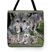 Montana Wolf Pack Tote Bag