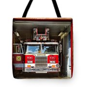 Montclair Fire Truck Tote Bag