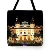 Monte Carlo Casino At Night Tote Bag