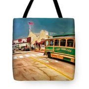 Monterey And Cable Car Bus Tote Bag