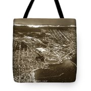 Aerial Of Monterey And Pacific Grove  California Oct. 25 1934 Tote Bag