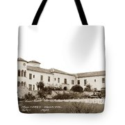 Monterey  Hospital At 576 Hartnell Street Circa 1939 Tote Bag