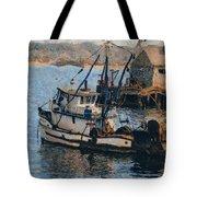 Monterey Fish Company Abstract Tote Bag