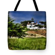 Monterey Lighthouse Tote Bag