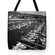 Monterey Marina With Fishing Boats In Slips Sept. 4 1961  Tote Bag