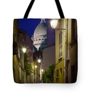 Montmartre Street And Sacre Coeur Tote Bag