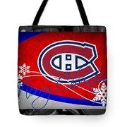 Montreal Canadiens Christmas Tote Bag