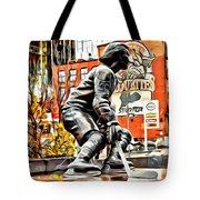 Montreal Hockey Lady Tote Bag