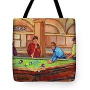 Montreal Pool Room Tote Bag
