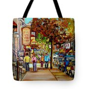Montreal Streetscenes By Cityscene Artist Carole Spandau Over 500 Montreal Canvas Prints To Choose  Tote Bag