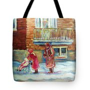 Montreal Winter Scenes Tote Bag