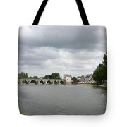 Montrichard Bridge Over Cher River Tote Bag
