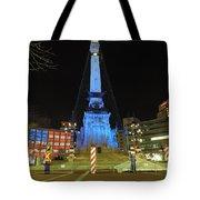 Monument Circle Indianapolis At Night Tote Bag
