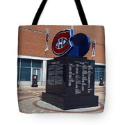 Monument For The Montreal Canadiens Tote Bag