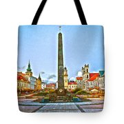 Monument In B.bystrica Tote Bag