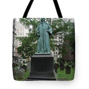 Monument John Watts Trinity Churchyard New York Tote Bag