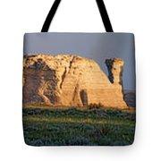 Monument Rocks Panorama Tote Bag