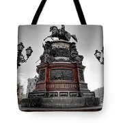 Monument To Russian Emperor Nicholas I In St . Petersburg . Russia Tote Bag