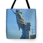 Monument To The Immigrants Statue 2 Tote Bag