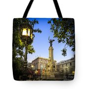 Monument To The Marquis Of Comillas Cadiz Spain Tote Bag