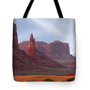 Monument Valley At Sunset Panoramic Tote Bag