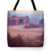 Monument Valley From Hunts Mesa Tote Bag by Inge Johnsson