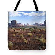 Monument Valley From North Window Tote Bag