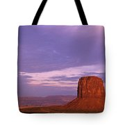Monument Valley Red Rock Formations At Sunrise Tote Bag