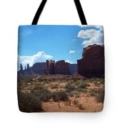 Monument Valley Scenic View Tote Bag